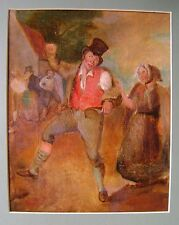 CARICATURE  THE DRUNKARD OIL ON CANVAS LAID ON BOARD ENGLISH SCHOOL EARLY 19THC