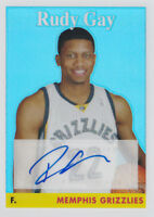 2008-09 Topps Chrome 1958-59 Variations Auto Refractors #76 Rudy Gay #/390