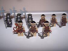 LEGO® minifigure lotr hobbit orc goblin troll helmet weapon x9 castle hair ear