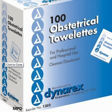 PDI DYNAREX OBSTETRICAL OB TOWELETTES CLEAN CATCH WIPES BOX/100