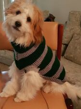 SMALL - BRAND NEW DOGS FOOTBALL JUMPER - NEW CASTLE KNIGHTS - HAND KNITTED
