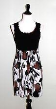 Saint Tropez West Dress Women's Size 10 Black Sleeveless Pockets Lined