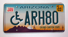 Arizona HANDICAP License Plate DISABLED WHEELCHAIR HANDICAPPED GRAND CANYON 2002