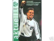01.06.1996 DFB-Aktuell 3/1996 Deutschland - Frankreich