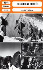 FICHE CINEMA : PREMIER DE CORDEE - Corday,Le Gall,Delaitre,Daquin 1944
