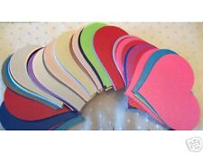 50 Asst Pearlised Heart Shaped Card Cut -outs 70mm X 62mm for Crafts