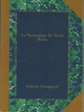 La Philosophie de David Hume - Gabriel Compayré - Sommaire Dedans