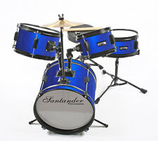 Kinderschlagzeug, Drum , Komplett Set, blau metallic, inklusive Hocker u. Sticks