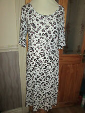 next ladies cream black stretchy dress size 10 Tall brand new with tags