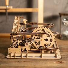 ROBOTIME DIY Model Buliding Construction Kits Marble Run Wooden Toy Set for Kids
