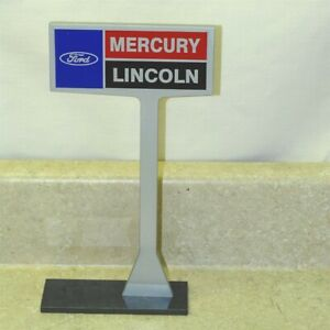 Advertising Ford Mercury Lincoln Car Dealership Desk Top Sign, Repro, Nice!