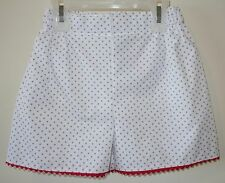 New Bella Bliss Blue Dot Lanie Shorts With Red Ric Rac Girl's Size 6