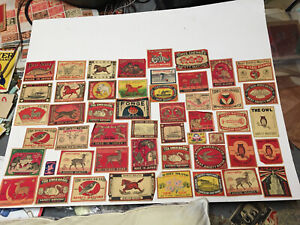 Lot # 305 China Japan Matchbox Mostly Packet Labels C. 100 Years Old