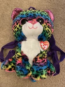 BNWT TY Beanie Accessory Backpack Bag - Dotty the Leopard 🎄