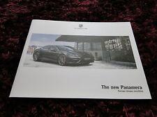 Porsche Panamera FOLLETO 2017-Nuevo Modelo-primera folleto emitido