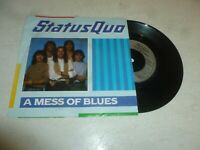 """STATUS QUO - A Mess Of Blues - Scarce Withdrawn 1983 UK 2-track 7"""" Vinyl Single"""