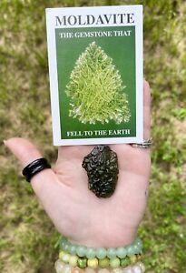 Moldavite 17.3 Grams Polished Specimen - Certified Authentic - Czech Republic