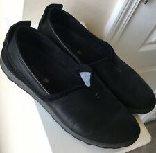 MERRELL Ashland Women's Size 8.5 M Black Leather Slip On Loafers Shoes J42784