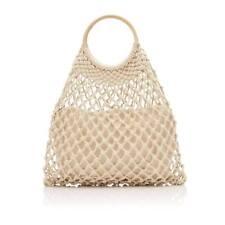 SPORTSGIRL Dora Macrame Shopper Tote Bag 045234 Natural with Tags