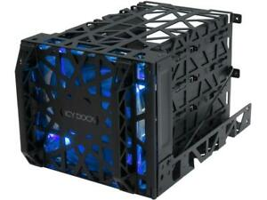 ICY DOCK BLACK VORTEX 3.5 INCH 4-IN-3-5.25 HDD MODULE COOLER CAGE MB074SP-B