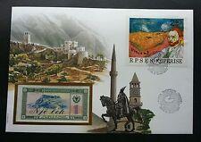 Albania Et'hem Bey Islamic Mosque - Skanderbeg Square 1990 FDC (banknote cover)