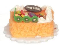 Birthday Cake, Dolls House Miniature, Miniatures, Food Cakes Sweets