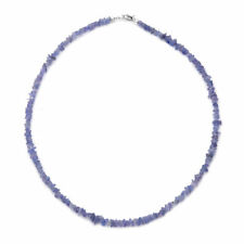 925 Sterling Silver Blue Tanzanite Necklace Jewelry for Women Size 18'' Ct 50