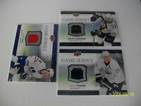 LOT OF 3 UPPER DECK 2007-08 GAME JERSEY : TORRES-LEGWAND-BELL