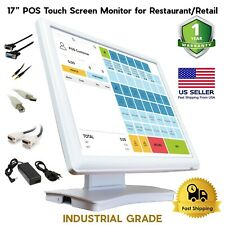 "17"" Inch Industrial Pos Touch Screen Monitor Usb Vga Dvi for Retail Restaurant"