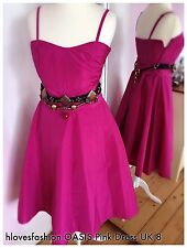 💗OASIS Pink Prom Cocktail Special Occasions Dress UK 8 EU 36 US 4 FAST📮💗
