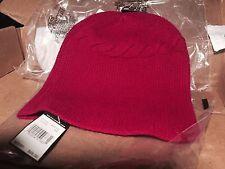 NWT Ralph Lauren Women's 100% Cashmere Fuschia Berry Skull Cap Hat Beanie - WOW!