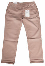 Mac Jeans Summer Da Donna Pantaloni Chino women pants 36 l28 feeling NEW MARRONE BROWN NUOVO