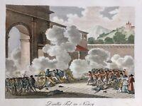 Nancy pendant la Révolution Française 1791 Rare Gravure ancienne Meurthe Moselle