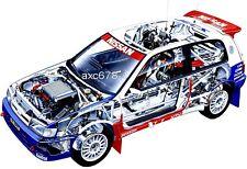 Nissan Pulsar GTI-R Rallye Gruppe A / Blomqvist 1991 - Bild Schnittzeichnung