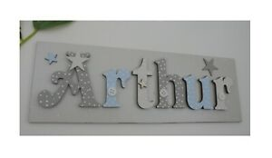 Childrens Personalised Name Sign MAX 7 letters ONE name Door Plaque VARIOUS boy