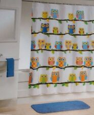 """""""WHAT A HOOT """" KIDS FABRIC SHOWER CURTAIN 70""""x71""""BY ALLURE  NEW IN BAG"""