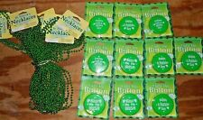 Lot Of 34 St. Patrick'S Day Items 24 Necklaces, 10 Light-Up Button/Pins Sayings