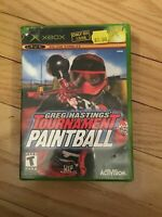 GREG HASTINGS' TOURNAMENT PAINTBALL - XBOX - COMPLETE W/MANUAL - FREE S/H - (BB)