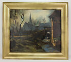 French Maurice de Vlaminck, Fauvist Oil Painting on Canvas