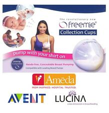 FREEMIE DELUXE COLLECTION CUPS for AMEDA AVENT LUCINA SPECTRA PUMP HANDS FREE
