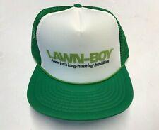 3135da2452b71 Vintage NOS Lawn-Boy Lawnmower Snapback Mesh Trucker Hat Green Foam Speedway