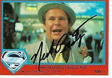 """NED BEATTY SIGNED 1978 TOPPS """"SUPERMAN"""" #100 - OTIS"""
