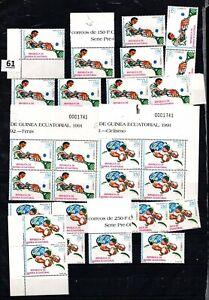 / 14X EQUATORIAL GUINEA 1991 - MNH - TENNIS, SPORTS, CYCLING