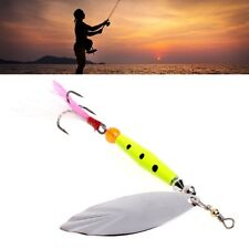 Spinner Fishing Lures Baits Metal Bionic Fish Hook Tackle Spoon Sequins Feather