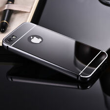 for iPhone protectitive skins Aluminum Metal bumper+Mirror finish back cover