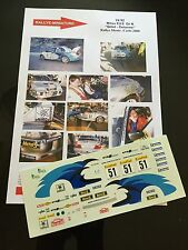 DECALS 1/24 MITSUBISHI LANCER GILLET RALLYE MONTE CARLO 2000 WRC RALLY HASEGAWA