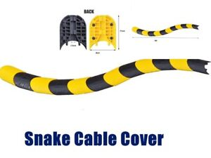 1 Channel Snake Cable Cover Ramp Protector Guard Electrical Wire 2 Cables Fit 1M