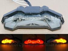 Smoke LED Integrated Tail Brake Turn Signal Light For 2014 15 16 Yamaha MT FZ 09