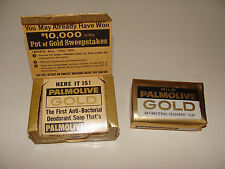 Vintage Palmolive Gold Soap Bar NOS Deodorant Pot of Gold Sweepstakes Box