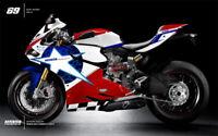 Injection Fairing Set Kit Bodywork for Ducati 1199 Nicky Hayden Edition 12-14